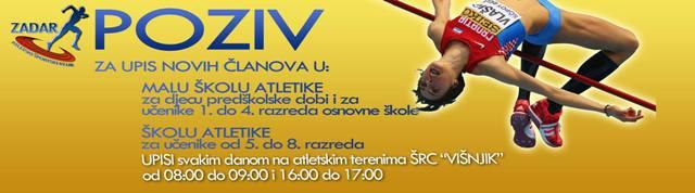 Počeli upisi u Atletski športski klub Zadar