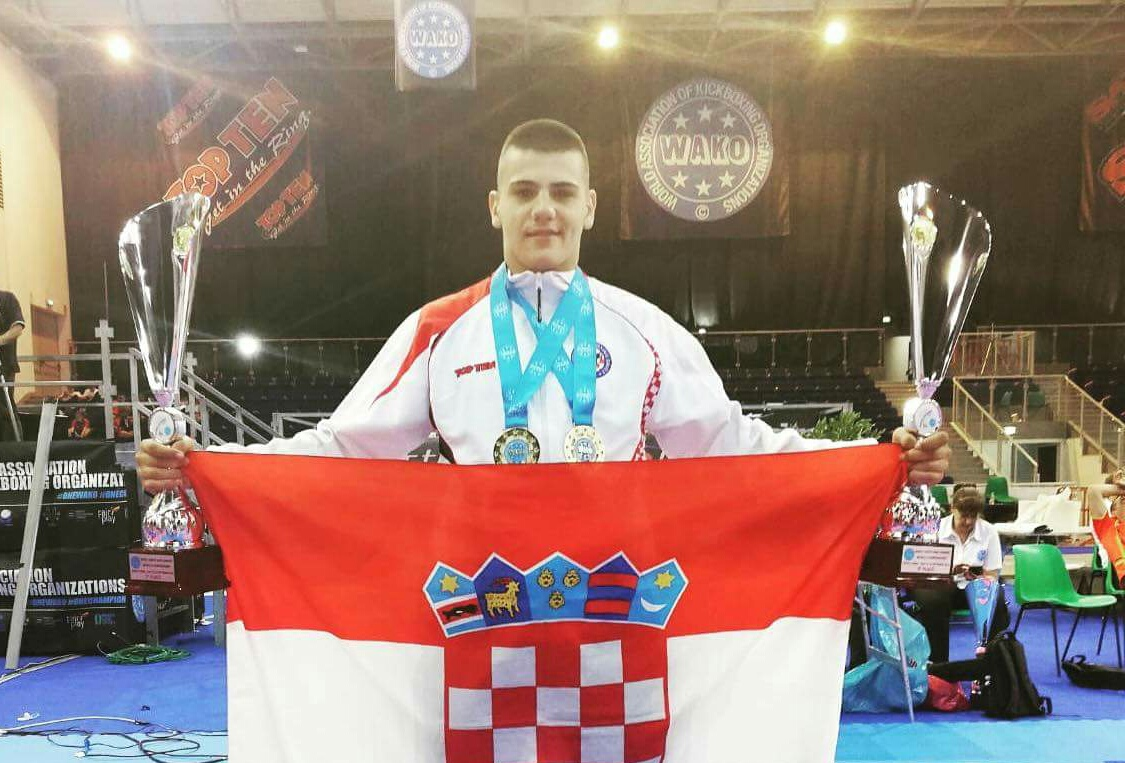 """Dvostruki svjetski prvak u kickboxingu Žarko Pedisić: """"Oba zlata su za mog bolesnog djeda Žarka"""""""