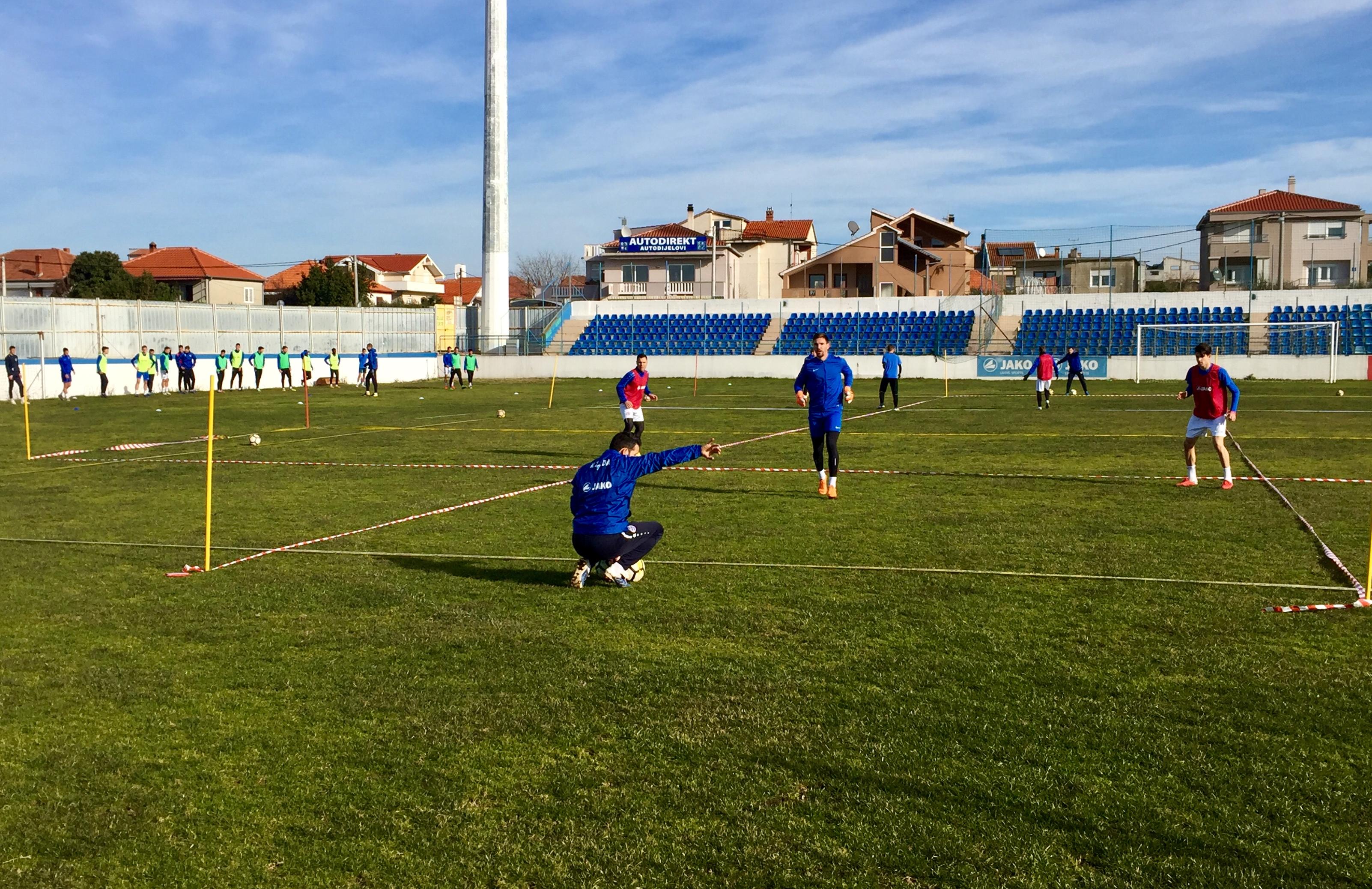 Nogometaši Zadra s novim trenerom krenuli s pripremama za nastavak 2. HNL