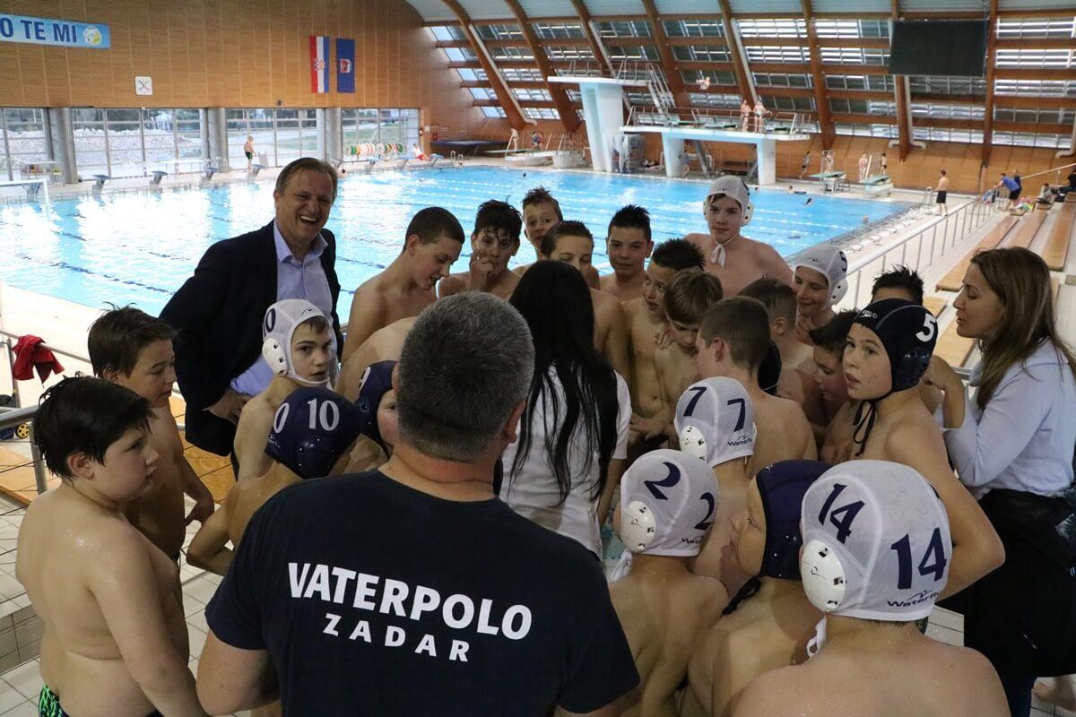 Gradonačelnik Zadra Branko Dukić čestitao prvacima države – Vaterpolo klubu Zadar 1952