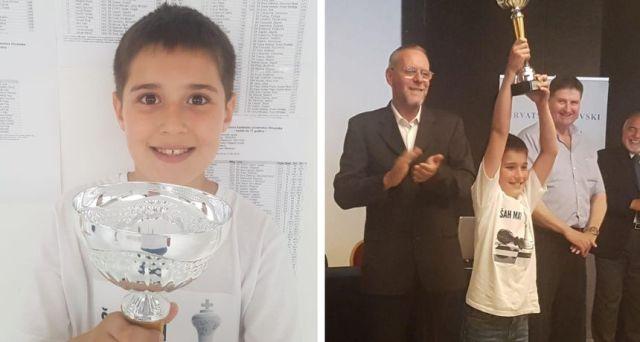 Jure Tadić (ŠK Zadar) prvak Hrvatske u šahu u kategoriji do 9 godina