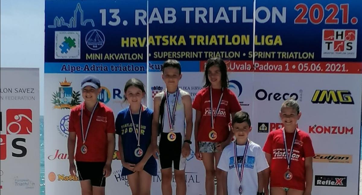 13. RAPSKI TRIATLON Odlični rezultati predstavnika Triatlon kluba Zadar
