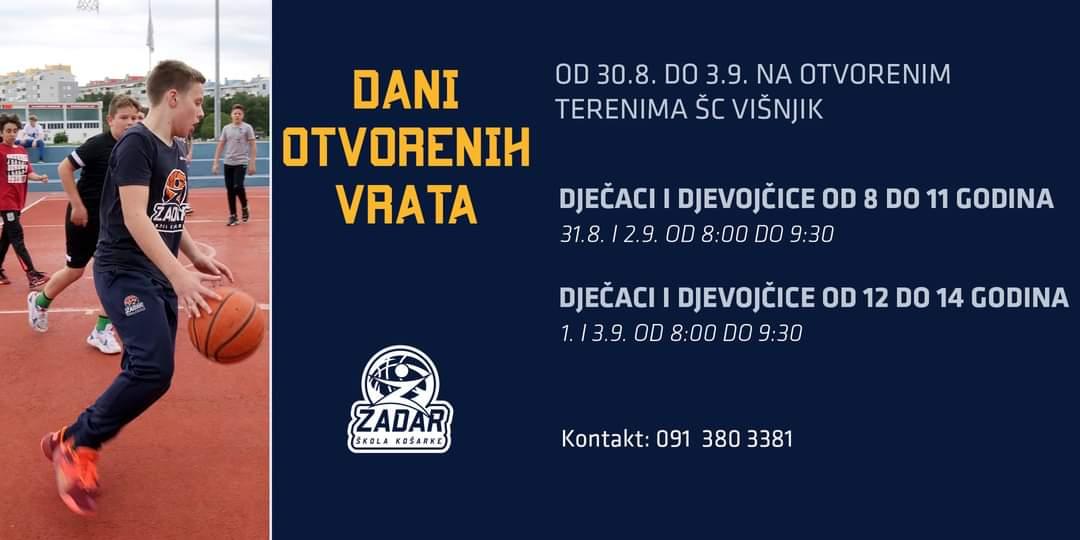 Dani otvorenih vrata u Školi košarke Zadar